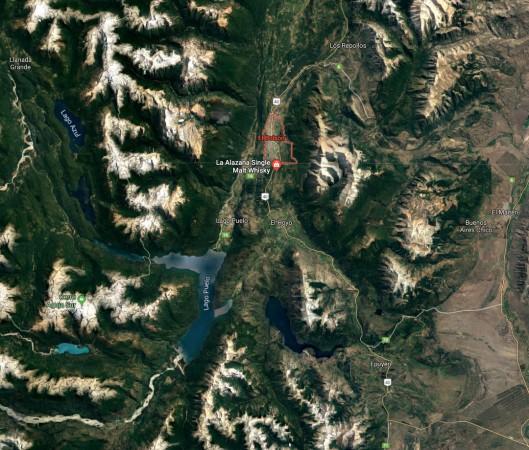 La Alazana : entre les montagnes dans une vallée glacière.