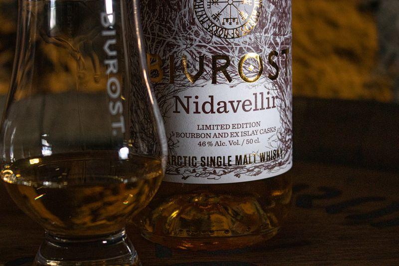 Bivrost Nidavellir - verre bouteille gros plan
