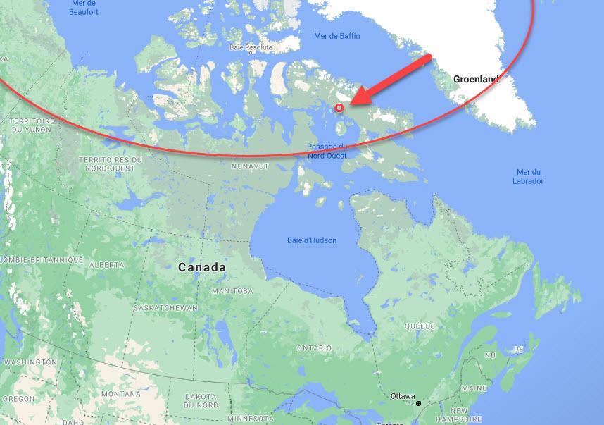 carte du cercle polaire canada 1